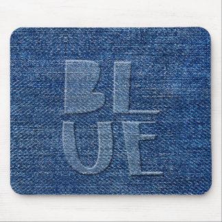 Blue Denim Mouse Pad