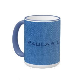 blue denim mug