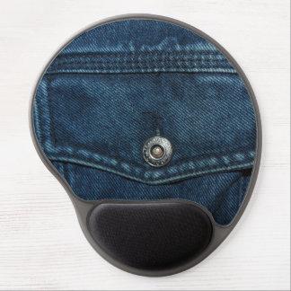 Blue Denim Pocket Gel Mouse Pad
