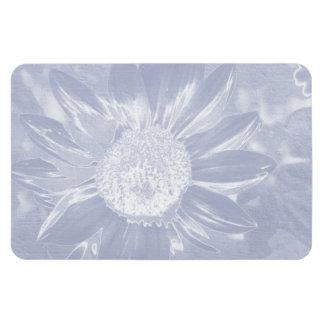 Blue Denim Sunflower Magnet