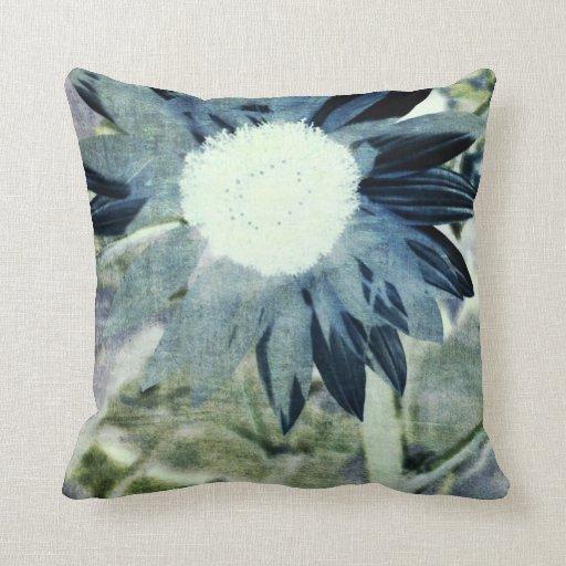 Blue Denim Sunflower Pillow
