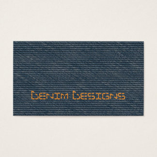 Blue denim with stitched effect title business card