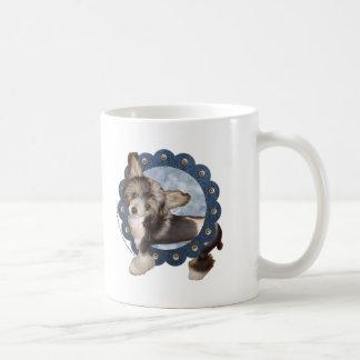 Blue Denim Wreath - Chinese Crested - Sheeba Coffee Mug