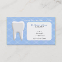 Blue Dental businesscards with appointment card