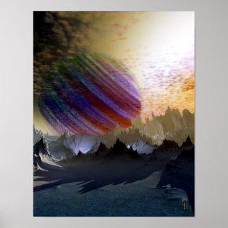 """Blue Desert of Niprox 4 V2.0  11"""" x 14"""" Art Print"""