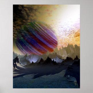 """Blue Desert of Niprox 4 V2.0  16"""" x 20"""" Art Print"""