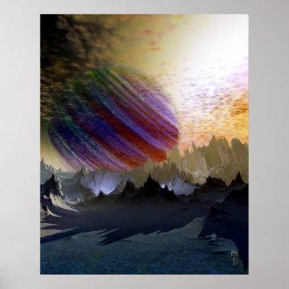 """Blue Desert of Niprox 4 V2.0  24"""" x 30"""" Art Print"""