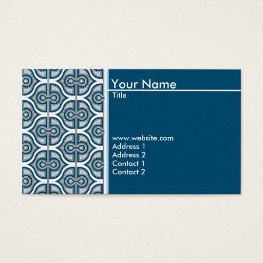 Blue Design Business Card