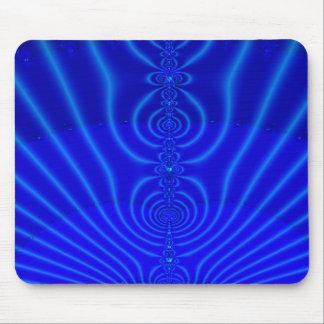 Blue Design Fractal Mouse Pad