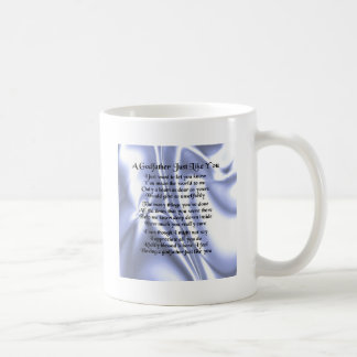 Blue Design  Godfather Poem Coffee Mug