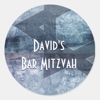 Blue Design Star of David stickers