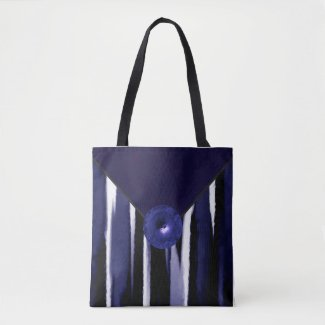 Blue Designer Fashion Tote Bag