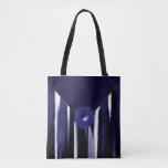 Blue Designer Fashion Tote Bag