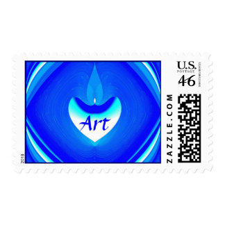 Blue Desire Postage Stamp