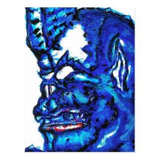 Blue Devi Postcard