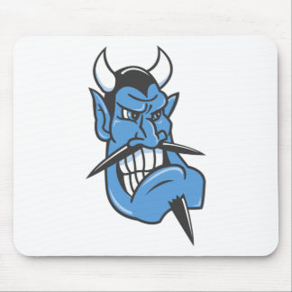 Blue Devil Face Mousepads