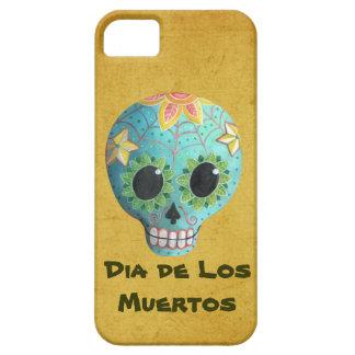 Blue Dia de Los Muertos Art Sugar Skull iPhone 5 Cover