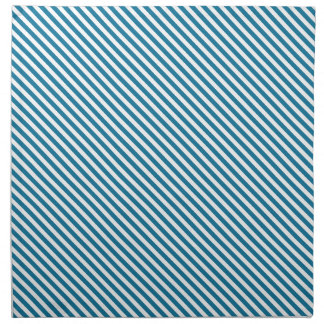 Blue Diagonal Lines Cloth Napkin