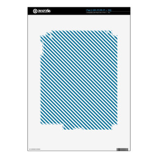 Blue Diagonal Lines Skins For iPad 2