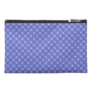 Blue Diagonal Pattern Travel Accessories Bag