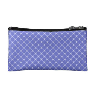 Blue Diagonal Pattern Cosmetic Bags