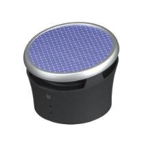 Blue Diagonal Pattern Speaker
