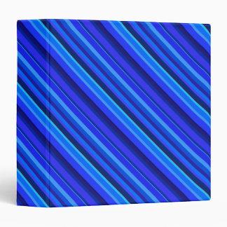Blue diagonal stripes 3 ring binder