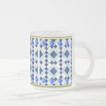 Blue Diamond 10-oz Frosted Glass Mug