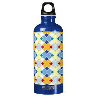 Blue diamond aluminum water bottle