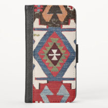 Blue Diamond Arrow Konya // 19th Century iPhone XS Wallet Case