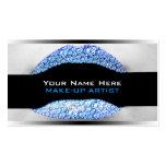 Blue Diamond Bling Make-Up Artist Business Cards
