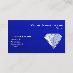 Blue diamond business cards zazzle blue diamond business card colourmoves