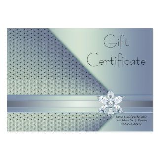 Blue Diamond Business Gift Certificate Cards Large Business Cards (Pack Of 100)