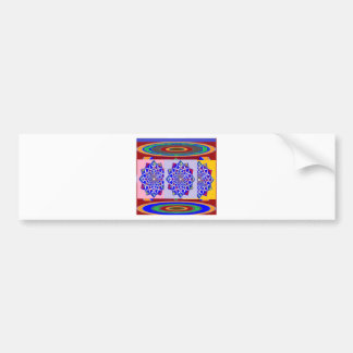 BLUE DIAMOND Chakra Wheel Flower Royal Bumper Sticker