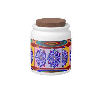 BLUE DIAMOND Chakra Wheel Flower Royal Candy Dishes