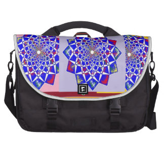 BLUE DIAMOND Chakra Wheel Flower Royal Laptop Commuter Bag
