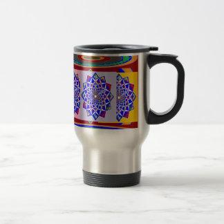 BLUE DIAMOND Chakra Wheel Flower Royal Coffee Mug