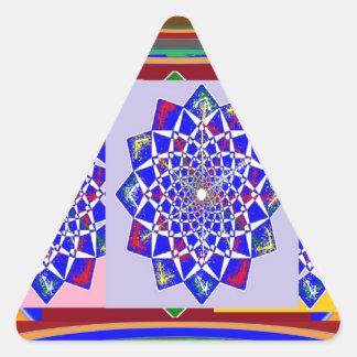 BLUE DIAMOND Chakra Wheel Flower Royal Triangle Sticker