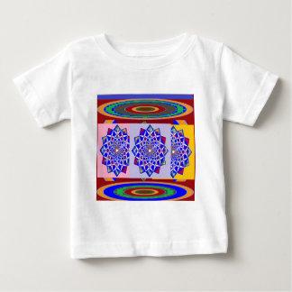 BLUE DIAMOND Chakra Wheel Flower Royal Tee Shirts