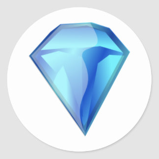 Blue Diamond Classic Round Sticker