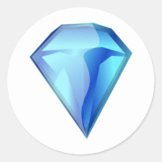Blue Diamond Classic Round Sticker