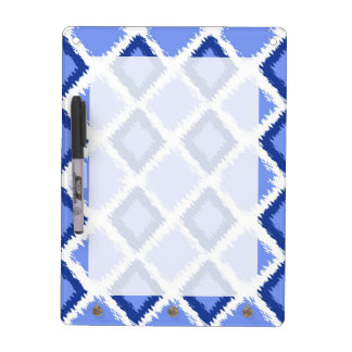 Blue Diamond Ikat Pattern Dry-Erase Board