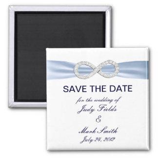 Blue Diamond Infinity Wedding Save The Date Magnet Refrigerator Magnet