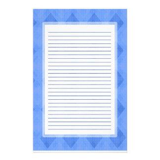 Blue Diamond Lined Stationery