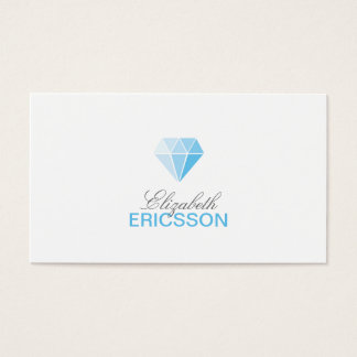 Blue Diamond Logo Business Card