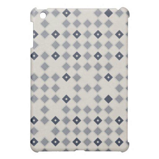 Blue Diamond Mosaic Pern iPad Mini Cover