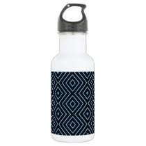 Blue Diamond Pattern Water Bottle