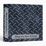 Blue Diamond Plate Business Binder
