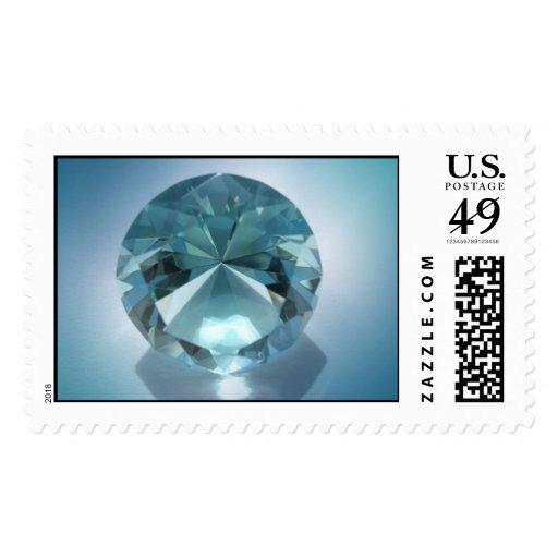 blue diamond postage stamp