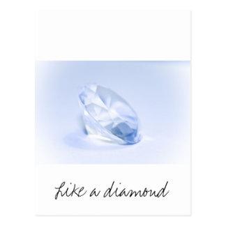Blue Diamond Postcard